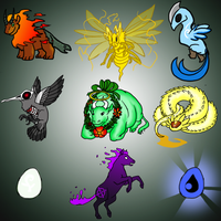 DA Elemental Adoptables by Mariannefosho