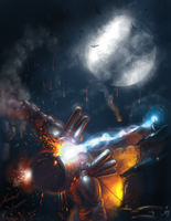 Fall of mech colossus by muravei