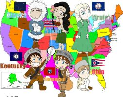 Hetalia: America's States 1 by Hot-Shots-Babe