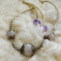 Cord with rose-quartz (necklace) by NADYjewel