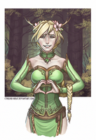 Horned Lady. by Cthulhu-Great