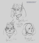 WoW Headshot doodles 9714 by Zeldalina