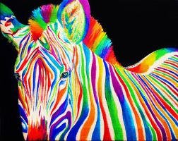 Black, White, and Rainbow by Splash--of--Colour