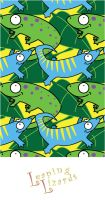 Leaping Lizards pattern by estranged-illusions