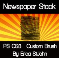 Newspaper Stack PS CS3 Brush by estjohn