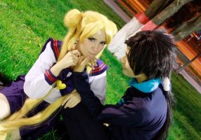 Usagi Tsukino and Seiya Kou Cosplay - Odango by SailorMappy