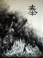 Charcoal Samurai by LeperGnome