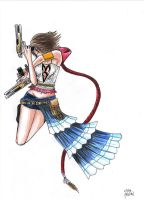 Yuna ffx-2 colour by Nayawinden
