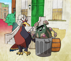 Garbodor the Grouch by WillDrawForFood1