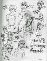 Hunger Games Characters by BrokenKey2235