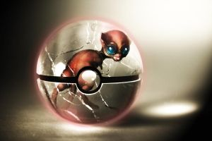 The Pokeball of The Real Mew by wazzy88