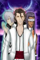 Aizen,Gin and Tousen by Neo-CriminalBlueRose