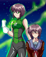 Green Lantern Yuki by darthplegias
