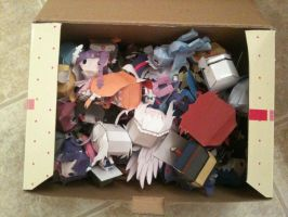LOOK AT ALL DOSE PAPERCRAFTS by Rawrshiram