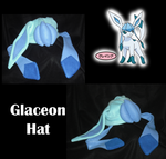 Glaceon Hat by SarahRuthless
