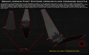 Upsilon-class command shuttle ortho [New] by unusualsuspex