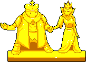 Pixelart - Royal Statues by AbortedSlunk