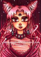 ACEO - Black Lady by yamiyuuga
