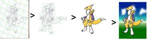 Steps 4 an art -Scan base- by 2-D-likespizza