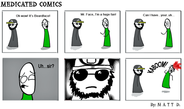 13. Beardface by MedicatedComics