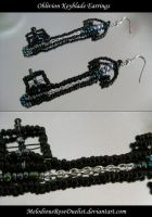 Oblivion Keyblade Earrings by MelodiousRoseDuelist