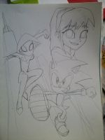 Sonic and Spider...Gwen? by KHXhero