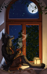 The Moon and I by Shadow-Wolf