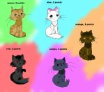 adoptables!! by Riverskywarrior