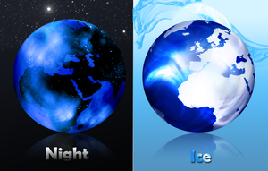 Earth Night-Ice icon by janosch500