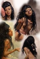 mermaid dark skinned size by cdlitestudio