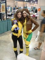 Shadowcat and Rogue by BD007