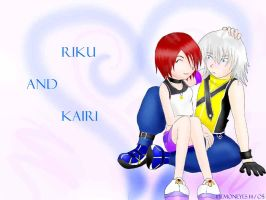 Kairi Riku Wallpaper by Demoneyes14