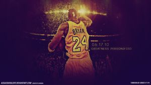 Kobe Bryant Greatness Personified TBS'10 Wallpaper by assasinsilent