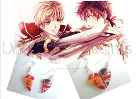APH - Spain x England - Half Heart Earrings by Undisclose--Desires