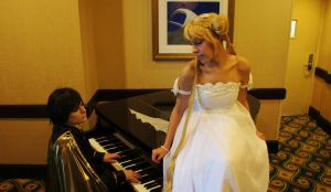 Cosplay on a piano by Chris1248
