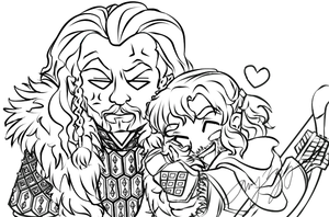 I love your coat, Fluffy Uncle Thorin! by UchihaSae