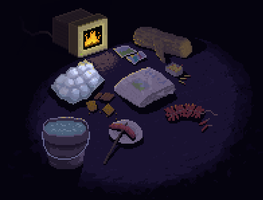 pixel fireplace by TedMartens
