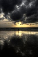 Solitary In The Sunset by InayatShah