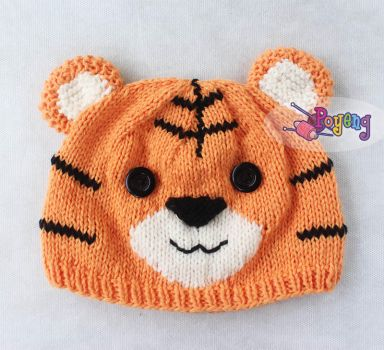 Tiger Cub Baby Hat Knitting Pattern by her-name-is-ajeng