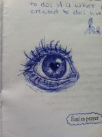 Blue Pen Eye by bailey-bear