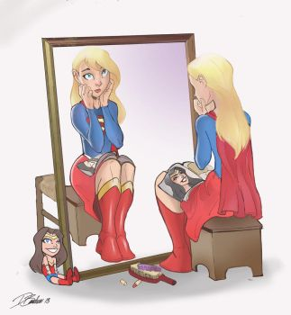 Supergirl at Mirror by DaveJorel