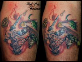 Pete's Nasty Mole by Reddogtattoo