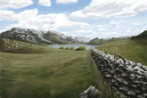 Practice 0038 KRITA Landscape from photo by ludwig-a