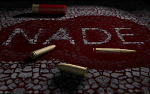 Puddle Of Blood Text Template C4D by GuMNade