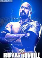 WWE Royal Rumble 2013 - Poster Featuring The Rock by MarcusMarcel