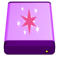 Mac USB HD Icon, Twilight Sparkle Version. by Flutterflyraptor
