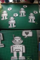 Robots Love Stickers by truemarmalade