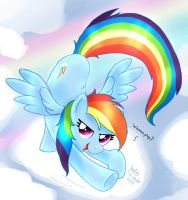 MLP FIM - Rainbow Dash Wanna Play by Joakaha