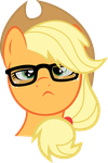 Hipster Applejack by Synthrid