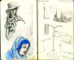 Sketchbook A: 3 and 4 by HYBRiDsunshIne